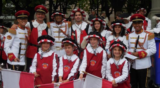 Nusplinger Fanfarenzug begeistert die Massen in Basel 2014